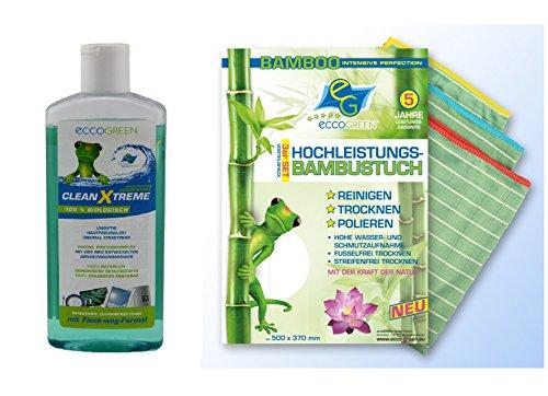 eccogreen-3-x-ad-alte-prestazioni-di-bambu-panno-clean-x-treme-bioreiniger-350-ml-capacita-di-assorb