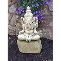 Adorno de jardín de Buda piedra Ganesha estatua de elefante indio dios