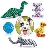 HEALTHLIFE Pet Dog Toys, motivo animali cotone corda Puppy masticare giocattoli per cani piccole e medie InterActive indoor outdoor training giocattoli (set di 5)