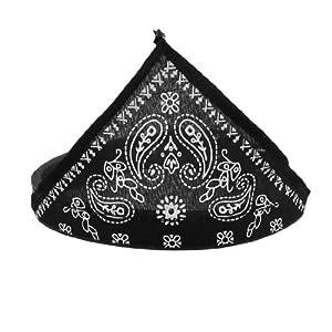 SODIAL(R) Foulard/bandana du cou pour chien chat Collier reglable Noir
