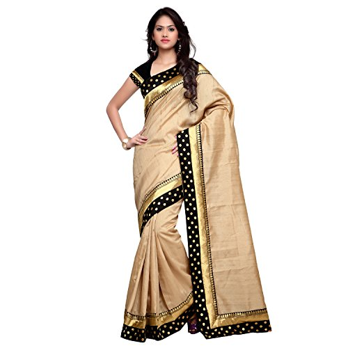 sarvagny clothings Women Silk Cotton Saree (Sarvagnychikoo555_Beige_Beige_Free Size)