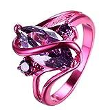 rongxing Jewelry 2016Nuevo De Amatista Y Diamante Anillo, 14kt oro rojo 'S' anillos