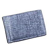 Gaddrt Hommes sac à main en cuir Business portefeuille ID carte de crédit poches porte-monnaie (Gris)