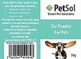 PetSol Ohrpuder für Hunde, schnelle Linderung bei juckenden, riechigen und wachsen Ohren, unterstützt die Fellpflege und Zupfen