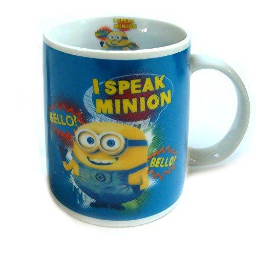 Minions Tasse I Speak Minion Kaffeetasse Bello! Bello! Keramik Becher Mug Despicable (Hoodie Erwachsene Für Minion)