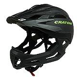 Downhill Helm Cratoni C-Maniac, black-lucentblack matt, Gr. M-L (54-58 cm)