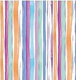 i.stHOME Klebefolie Streifen Bunt, Möbelfolie Dekorfolie Gestreift 45x200 cm - Selbstklebende Folie Retro - Bastelfolie