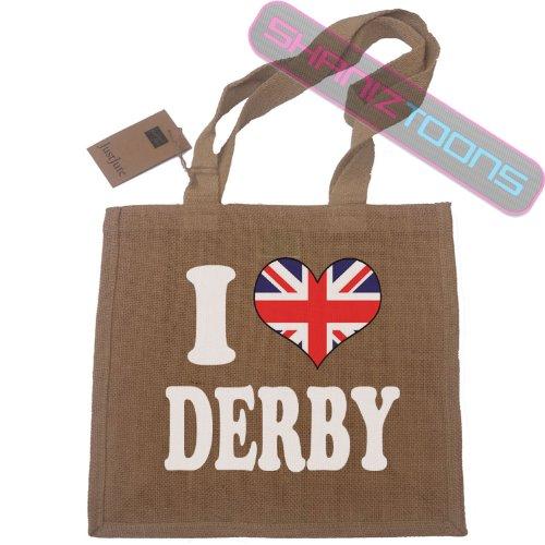 I Love Derby iuta Shopping Borsa Grande