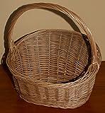 Weidenkorb Geschenkkorb Dekorationskorb Weide Behälter aus Weide verschiedene Varianten (KPR107 - Korb, schräg, vollgeflochten, Mini)