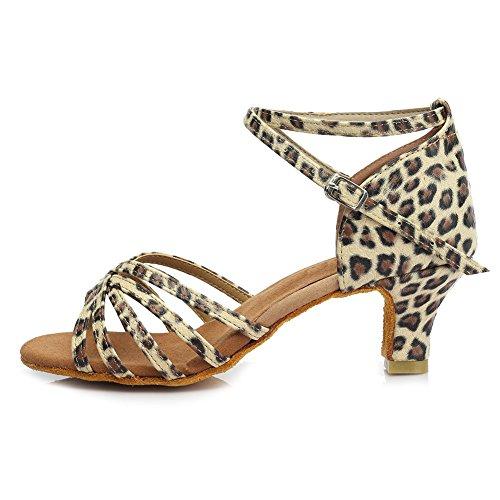 Hroyl donna i5-213 multicolore raso scarpe da ballo latino eu 38.5