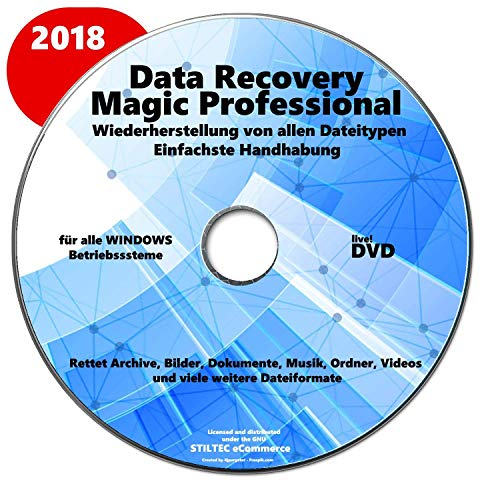 Data Recovery Professional-Datenverlust? Rettet Archive, Bilder, Dokumente, Musik, Ordner, Videos! Datensicherung,Datenrettungssoftware Datenwiederherstellung für Windows 2018