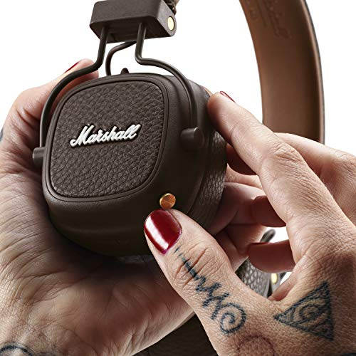 Marshall Major III Bluetooth Wireless On-Ear Headphones (Brown) Image 4