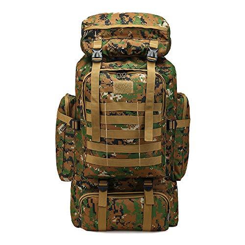 Zaino grande capacità 80L zaino camouflage outdoor zaino da viaggio escursionismo borsa giungla digit