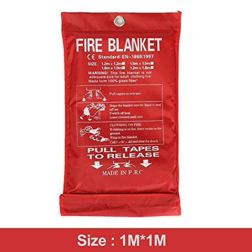 Preisvergleich Produktbild Yann feuerdecken lagerung Decke Notfall überleben flammhemmender Schutz wärmeisolierung Faser Carbon Glas Flucht Abdeckung löscher Zelt