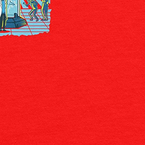 Planet Nerd - Incredible Tiny Rick - Herren T-Shirt Rot