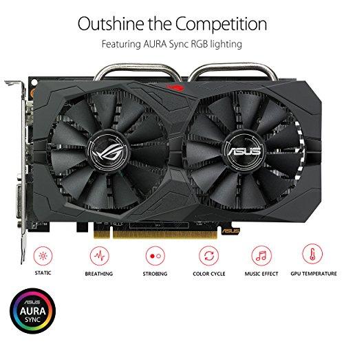 ASUS Carte Graphique ROG-STRIX-RX560-O4G-GAMING (OC Édition, AMD Radeon RX 560, 4Go Mémoire GDDR5) 6