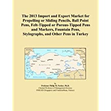 The 2013 Import and Export Market for Propelling or Sliding Pencils, Ball Point Pens, Felt-Tipped or Porous-Tipped Pens and Markers, Fountain Pens, Stylographs, and Other Pens in Turkey