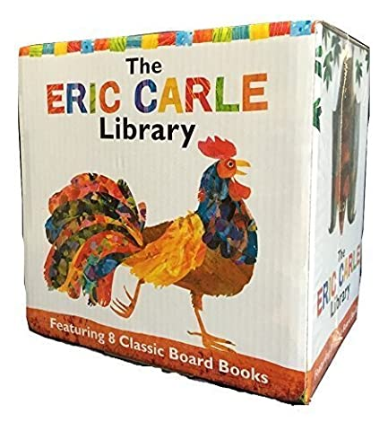 The Eric Carle Library Featuring 8 Classic Board Books Boxed Set [The Greedy Python, The Foolish Toroise, Rooster's Off to See the World, Walter the Baker, A House for Hermit Crab, Pancakes Pancakes!, Hello Red Fox, The Tiny Seed] by Eric Carle