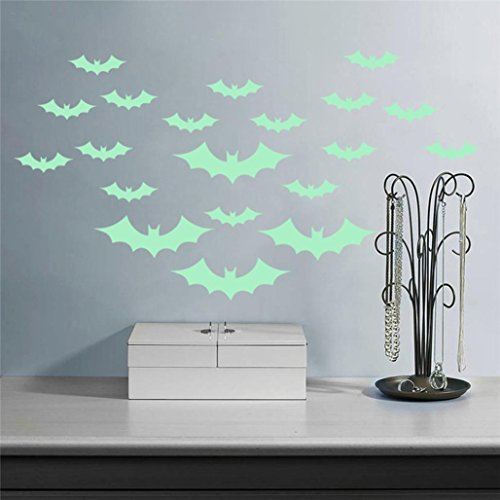 Halloween-Wand-Aufkleber,Leuchtende Nacht,Happy Halloween Haushalt Zimmer Wandaufkleber Mural Decor Decal Removable Neu By JIANGFU (Prothetische Halloween Make Up)
