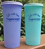 #10: Tupperware Plastic Tumbler Set, 340ml, Set of 2, Multicolour