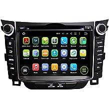 2 Din 7 pulgadas Coche Estéreo con GPS Navegación Android 5.1.1 Lollipop OS para Hyundai I30 2011 2012 2013 2014,Pantalla Táctil Capacitiva con 1.6G de la ...