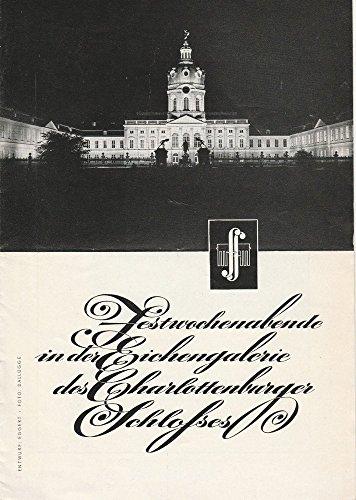 Programmheft Festwochenende in der Eichengalerie des Charlottenburger Schlosses 1957 -