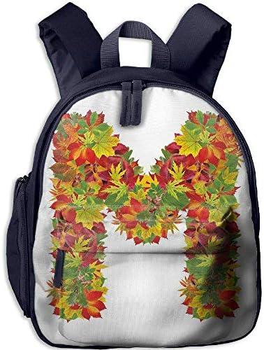 Boys'&Girls' Backpack   Pocket Pocket Pocket Letter M Fall Season EleHommes ts Uppercase M ColoRouge  Leaves Acorns Autumn Nature Decorative Vermilion Yellow Green B07H29MYDD   Expédition Rapide  c7fe56