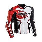 Ixon Falcon JKT 1002010412017 Blouson Moto, Blanc Noir Rouge, L