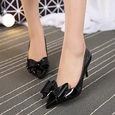 Moda Donna Sandali Sexy donna tacchi Primavera / Estate / Autunno tacchi / Punta / punta chiusa Casual Stiletto Heel Bowknot passeggiate Red