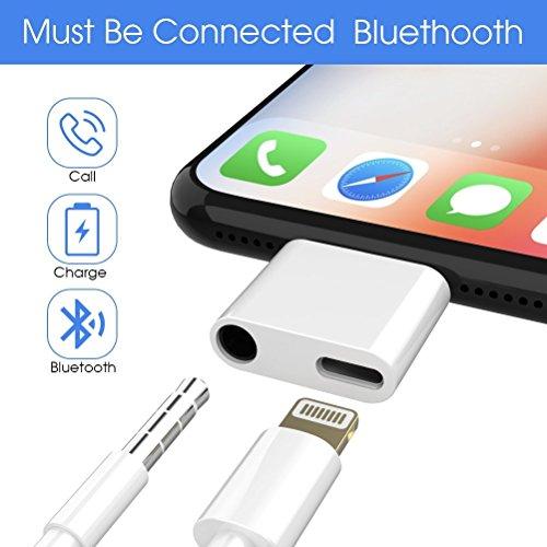 Preisvergleich Produktbild Lightning auf 3, 5 mm Klinkenstecker,  Stecker Lightning Kabel,  Lightning auf 3, 5 mm Klinkenstecker Kopfhörer Adapter für iPhone X / 8 / 8 Plus / 7 / 7 Plus,  [Charge + Musik] (Ohne Gerät Antwort Funktion)