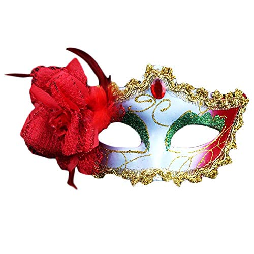 Wanbor Halloween Masquerade Mask Princess Lace Mask Princess (D)