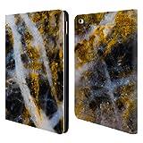 Head Case Designs Offizielle PLdesign Gold Weiss Felsen Gewebe Und Funkel Brieftasche Handyhülle aus Leder für iPad Air 2 (2014)