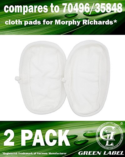 2 Microfibre Steam Mop Cloth Pads to fit Morphy Richards 9 in 1 720023