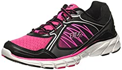 Fila Womens Diatribe Pink Glow, Black and Metallic Silver Running Shoes - 3 UK/India (37 EU)