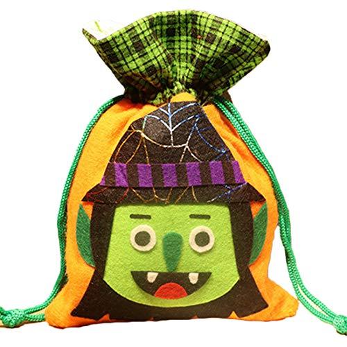 Yefree Halloween Süßigkeit Einkaufstasche Neu Kind Snack-Tasche Niedlich Kordelzug