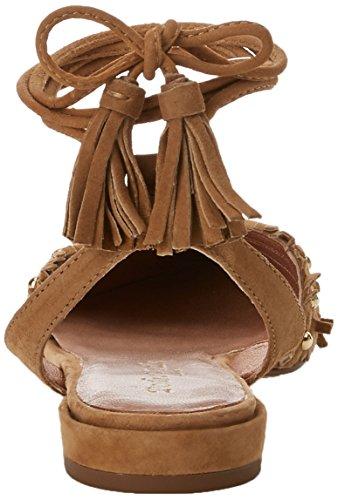 PEDRO MIRALLES 19733, Sandali con Cinturino alla Caviglia Donna Marrone (Camel)