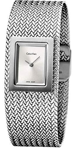Calvin Klein Femmes Analogique Quartz Montre avec Bracelet en Acier Inoxydable K5L13136
