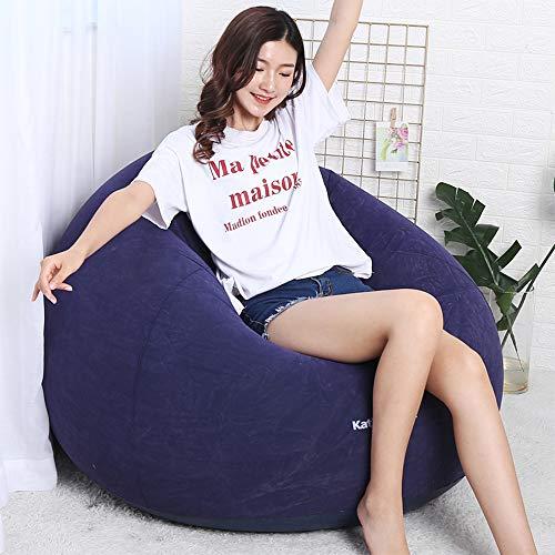 Zhanghaidong Bean Bag Lazy Sofa Bean Bag Single Lounger Recliner Creative Multifunción Chair Liner Cloth Inflable Perezoso Sofá De Fútbol Pequeño Apartamento En Casa Solo Sofá