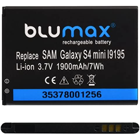 Blumax 35378 - Batería para Samsung Galaxy S4 Mini(iones de litio, 1900 mAh, 3.7 V)