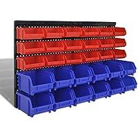 Bandeja de boquilla 30piezas rojo y azul con Panel pared