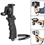 Fantaseal Action Kamera Griff mit Handyhalter für GoPro Handgriff GoPro Handheld Stabilisator Halter GoPro Grip GoPro Handstativ Halterung GoPro Selfie Stick Selfie-Stange GoPro Einbeinstativ GoPro Hand Grip Support Holder für GoPro Hero5 / Hero5 Session / Hero 4 / Hero4 Session / Hero3+ / Hero3 + SJCAM Garmin Virb Xiaomi Yi Qumox Vic Tsing Apeman Campark, Ergonomisch Action Kamera Handgriff Haterung
