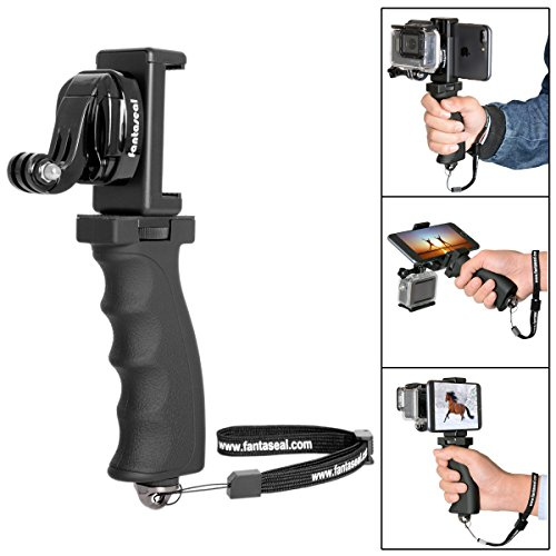 Fantaseal® 3-en-1 empuñadura de la pistola ergonómica Soporte Estabilizador de película Grip + engaste + Adaptador portátil GOPRO J-gancho, una gran plataforma para la cámara réflex digital 60-85mm teléfono inteligente + ancho + GoPro héroe 5/4/3 + / 3 / Sesión / SJCAM SJ4000 WIFI / Garmin Virb XE / Xiaomi Yi / dBpower QUMOX Akaso El Apeman etc.