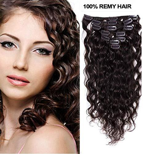 1fa9cb42 'Romantic Angels® 18 Clip en extensiones Deep Curly pelo auténtico Juego 7  Piezas 70 g pelo garantía oscuro Color Marrón # 2