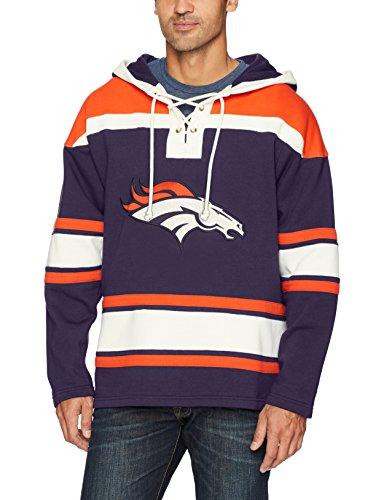NFL Denver Broncos Men's Ots Lacer Pullover Hood, Medium, Light Navy