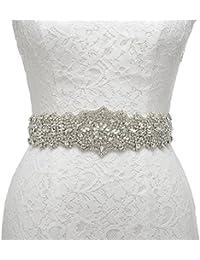 Remedios Wunderschönen Strass Hochzeit Sash Crystal Hochzeits Gürtel für Abendkleid