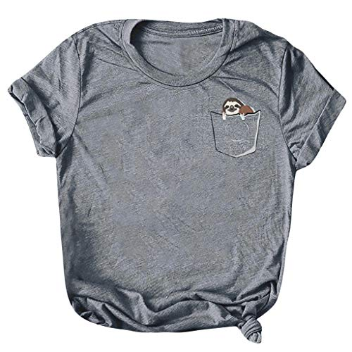 ┃BYEEEt┃ Donna Maniche Corte - Divertenti Vintage Tumblr Magliette Donna Manica Corte Ragazza T-Shirt Donna Divertenti Vintage Magliette Gilet con Stampa A Lettera Maniche Corte - Donna T-Shirt
