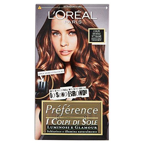L'Oréal Paris Préférence Colpi di Sole Capelli Luminosi e Glamour, N7 Rame