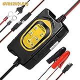 WonVon 6V 12V 1.5A Chargeur Batterie Voitures Batterie Maintaineur Portable pour SLA AGM Gel Cell Wet Batteries au Plomb de Moto Auto