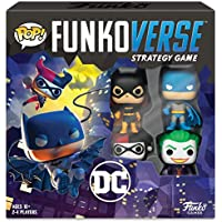 Funko 42628 DC100 Funkoverse (4 Character Pack) ENGLISH Board Game, Multi Colour