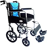 Ultra Lightweight aluminium folding transit wheelchair with attendant brakes